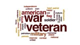 War veteran animated word cloud, text design animation. - 176793785