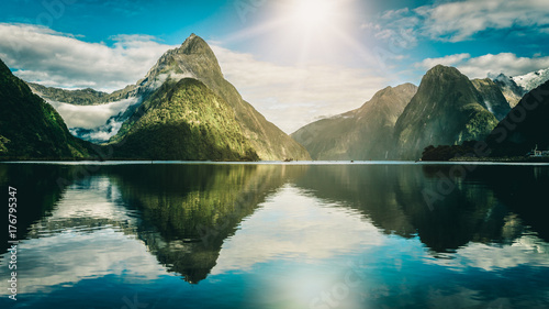 Poster Oceanië Milford Sound in New Zealand