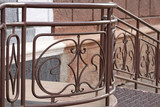 Wrought-iron fences and hedges - 176797756