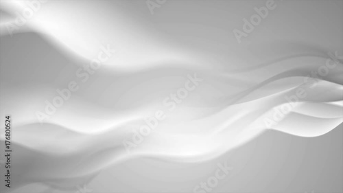 Staande foto Abstract wave Grey abstract elegant futuristic waves motion graphic design. Seamless loop. Video animation Ultra HD 4K 3840x2160