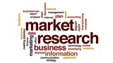 Market research animated word cloud, text design animation. - 176801969