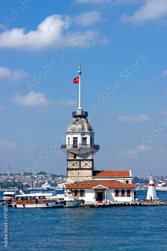 Poster Maiden's Tower in Istanbul, Turkey