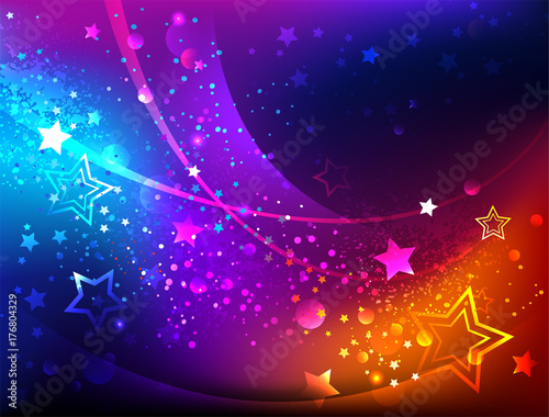 Bright abstract background with stars