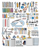 Vector set of stationery doodle style - 176806140