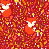 Fox in Autumn Forest. Vector Illustration. - 176808734