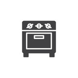 Small oven icon vector, filled flat sign, solid pictogram isolated on white. Kitchen stove symbol, logo illustration. - 176809318