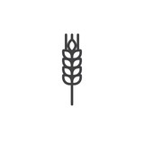 Wheat line icon, outline vector sign, linear style pictogram isolated on white. Symbol, logo illustration. Editable stroke - 176809377