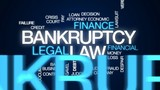 Bankruptcy law animated word cloud, text design animation. - 176810127