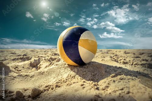 Beach Volleyball. Game ball...