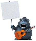 Fun gorilla - 3D Illustration - 176814576