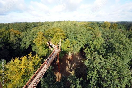 Fotobehang Pistache Ivenack, 1000-jährige Eichen, Baumwipfelpfad