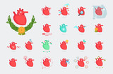 Heart collection: Vector icon set - 176821360
