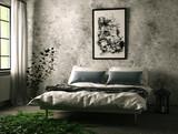 Schlafzimmer mit Laternen bei Tag mit Efeu - 176824523