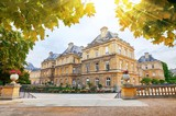 Jardin Du Luxembourg and Palace in Paris France. - 176825990