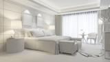 Elegantes Zimmer im Hotel in weiß - 176829991