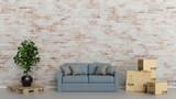 Umzug Konzept mit Möbel Lieferung durch Spedition - 176830118