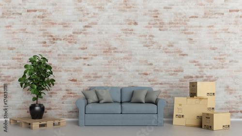 Umzug Konzept mit Möbel Lieferung durch Spedition