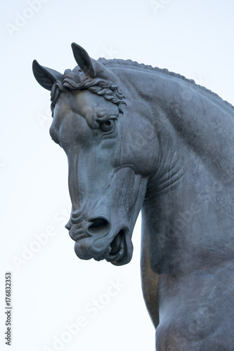 Leonardo da Vinci Horse statue in Milan, Italy Poster