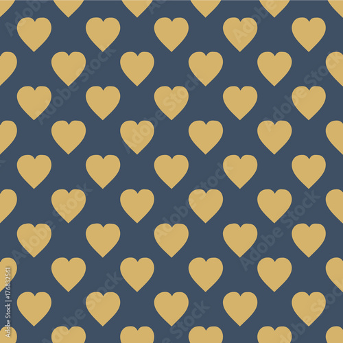 Pattern with hearts. Flat Scandinavian style for print on fabric, gift wrap, web backgrounds  Seamless background - 176832561