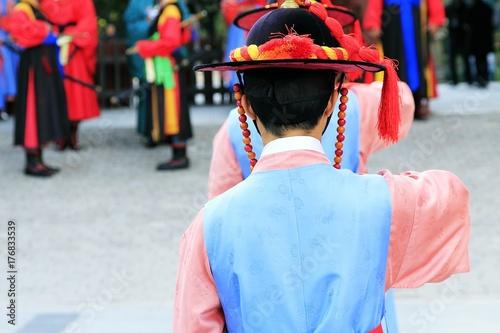 Korean Royal Guards at Deoksugung palace Poster