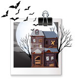 Photo of haunted house at night - 176835951