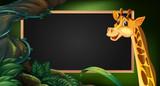Frame template with wild giraffe - 176835980