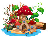 Mushroom house in the pond - 176836333