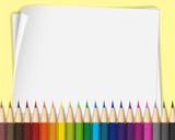 Blank paper with color pencils - 176836500