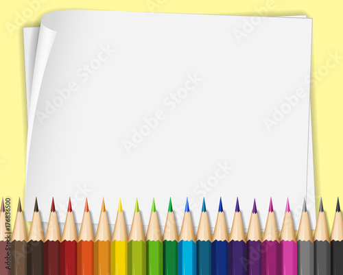 Aluminium Kids Blank paper with color pencils