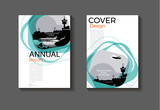 Emerald green modern cover design modern book cover abstract Brochure cover  template,annual report, magazine and flyer layout Vector a4 - 176838598