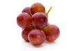 Quadro Ripe red grape isolated on white.