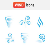 air wave vector. Illustration vector of wind icon collection - 176839987