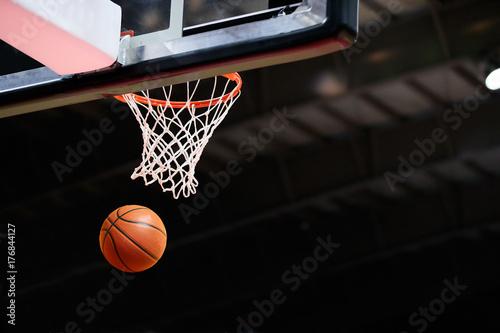 Fotobehang Basketbal バスケットボールの試合会場