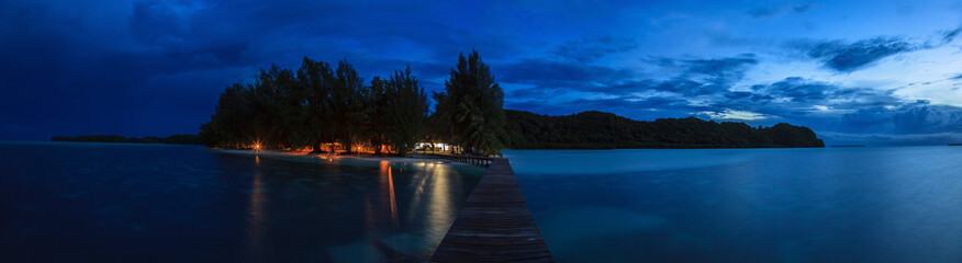 Abendstimmung auf Carp Island