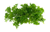 A portion of chopped curly parsley isolated on a white background. - 176845755