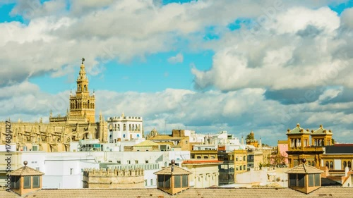 Giralda is bell tower of Cathedral, Seville, Spain