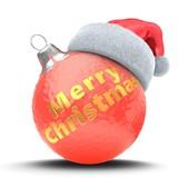 3d red Christmas ball - 176852728