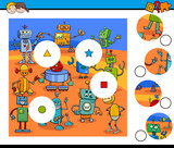 match pieces jigsaw puzzles with robots - 176853151