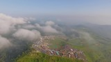 Aerial view at nature mountain sky and fog phu tubberk Thailand - 176854372