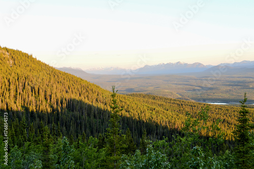 Fridge magnet Mountains and trees 1