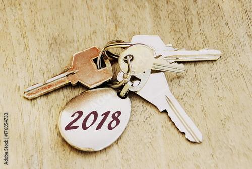 2018,date sur trousseau de clés,symbole