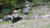 trash and ragged clothing - 176855723