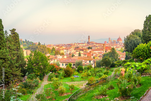 Papiers peints Florence Garden VIew of Florence, Italy