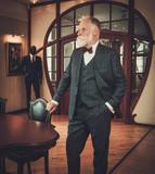 Senior man in luxury interior - 176862384