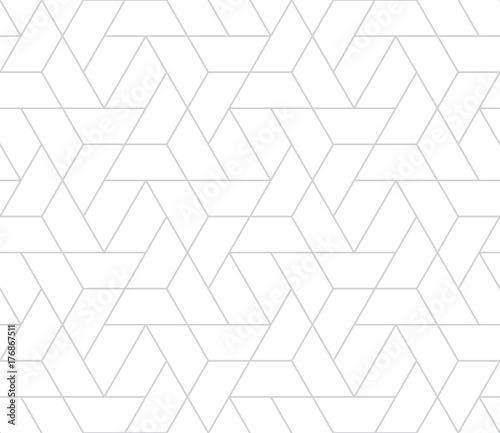 simple seamless geometric grid vector pattern - 176867511