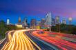 Dallas downtown skyline at twilight, Texas