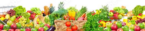 Fotobehang Verse groenten Food background