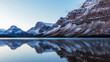 Bow Lake Reflection in Banff National Park, Alberta, Canada