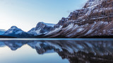 Fototapety Bow Lake Reflection in Banff National Park, Alberta, Canada