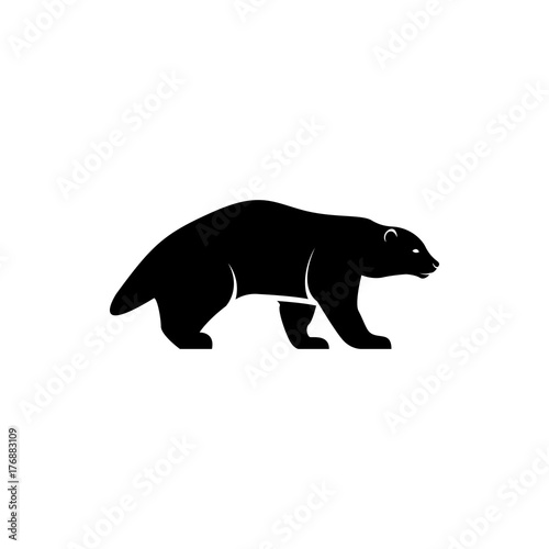 Vector Wolverine Silhouette View Side For Retro Logos Emblems Badges Labels Template Vintage